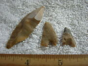 Hand Scraper Point Lot Early Man Paleolithic Acheulean Tools Africa Set-3 Ca28