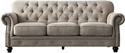 Acanva Collection Chesterfield Chenille Tufted Living Room Sofa 91w Couch Alm