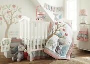 Levtex Baby Fiona 7pc Crib Bedding Set Include Mobile/changing Pad Covernew