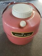 Therm A Jug Knapp Monarch Hot Cold Thermos 1 Gallon Vintage Pink
