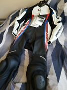 Bmw Double R Oem Dainese 1-piece Motorcycle Leather Suit Size 42us- 52eu S1000rr