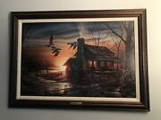 Golden Retreat By Terry Redlin, Ducks Unlimited, Signed Canvas, 1941/10000