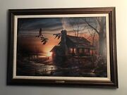 Golden Retreat By Terry Redlin Ducks Unlimited Signed Canvas 1941/10000