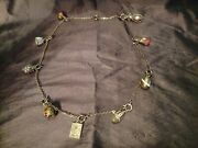 Vintage Joan Rivers Iconic Faberge Enamel Egg Charms Necklace