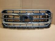 New Take Off Original Center Grille Fits 2021 2022 Ford F150 Chrome Lariat