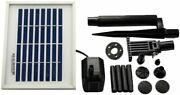Asc Solar Water Pump Kit For Fountain Pool And Pond 2.5w No Battery
