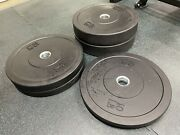 Olympic Rubber Bumper Weight Plates 160 Lb Set - 2 Pairs Of 45s, 35s And 10s