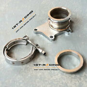 T3/t4 T3 Stainless Steel 304 5 Bolt To 3 V Band Adapter Conversion Flange New