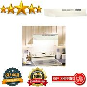 Non-ducted Under Cabinet Ductless Range Hood Insert 30-inch Bisque High Quality