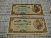 Hungary--1946--hyperinflation- Lot Of Seven-7-banknotes Circulated -xf