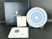 Used Wedgwood 200th Anniversary Jasper Trophy Plate Pale Blue World Only 250