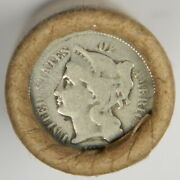 Three 3 Cent Nickel / Bu Wheat Vintage Old Lincoln Wheat Cent Roll Estate