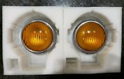 2 Front Fog Lights 5.25 Amber Mercedes-benz W109, W109   Eng Group Classic