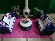 16 Scale Ooak Wicker Patio Furniture For Barbie And Similar Size Fashion Dolls