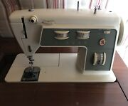 Singer Stylist Zig-zag Sewing Machine With Hinged Cabinet Model 774