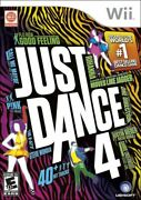 Just Dance 4 Nintendo Wii 2012 Rated E Ubisoft Used With Case Cover Inserts