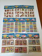 Lot Of 9 Vintage 1985 Garbage Pail Kids Gpk Stick-on And Stick-on Pictures Tags