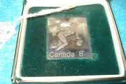 1976 Montreal Olympics Womenand039s Basketball Canada 8+2 Fine Silver Stamp