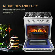 Electric 3000w Pizza Oven Double Deck Commercial Stainless, Steel Bake Broiler
