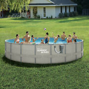 """Summer Waves Elite 20'x 48"""" Above Ground Frame Swimming Pool Set With Pump"""