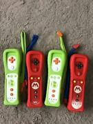 Working Lot Of 4 Nintendo Wii Remote Motion Plus Mario And Yoshi Controllers