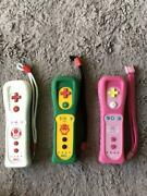 Working Lot Of 3 Nintendo Wii Remote Motion Plus Peach, Bowser And Toad