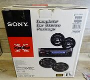 Sony Xplod Cxs-gt09hp Complete Car Stereo Cd Speakers Remote Package Aux Mp3