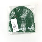 Supreme Fw19 Lacoste Croc Beanie Forest Green Hat Deadstock Unopened Nwt