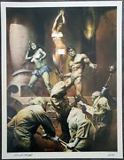 1976 Boris Vallejo - Green Princess 17 X 22 - Signed/numbered  20 / 100
