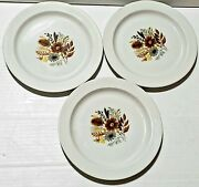 Georges Briard 6 Woodhue Plates. Lot Of 3. Vtg. Collectables Floral