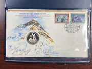First Ascent Mount Everest Sterling Silver Commemorative Signed Hillary And Norgay