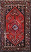 Antique Pre-1900 Geometric Oriental Traditional Area Rug Wool Hand-knotted 4x6