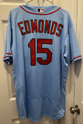 Jim Edmonds 2020 Game Used/worn/issued St. Louis Cardinals Powder Blue Jersey