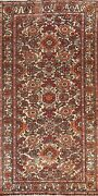 Antique Floral Oriental Traditional Area Rug Hand-knotted Wool Carpet 5x10 Ft