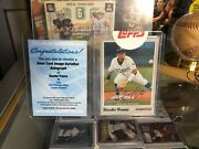 2019 Topps Heritage Wander Franco Photo Variation Auto /50 Ssp Topps Seal Rays
