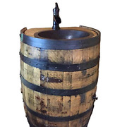 Whiskey Barrel Vanity With Sink And Faucet