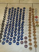 Assorted Lot Of 144 Bottle Caps Soda Beer No Dents Bud Ice Blue Gold