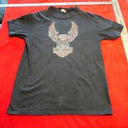 Vintage 1970's Early 1980's Harley Davidson Of Kc Tee Shirt Size L Large Kcmo
