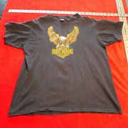 Vintage 1970's Early 1980's Dean's Harley Davidson Tee Shirt Size L Large Pa