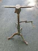 Antique 1800s Industrial Drafting Table Adjustable Stand With Swivel Pencil Arm