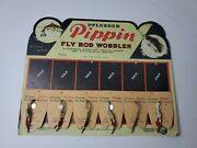 Vtg Pflueger Pippin 1 5/8 Fly Rod Wobbler Fishing Lure 8736 On Card Display
