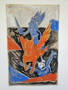 Signed Expressionist Painting Pegasus Contemporary Fine Art Rudy Robert Rios