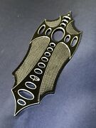 Occ Chopper Motorcycle Rider Floorboard Pad With Polished Inlay