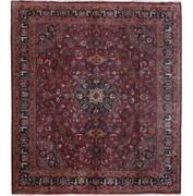 Pristine 10x11 Authentic Hand-knotted Signed Bijar Wool Rug Red B-81322