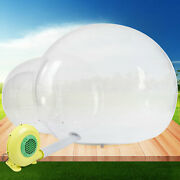 3m Inflatable Dome Camping Bubble Tent Outdoor Clear Pvc Tent W/air Pump 300w