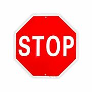 Stop Sign Street Slow Warning Reflective Signs Aluminum 6.4 Ounces Heavy Duty