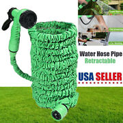 100ft Retractable Water Hose Spray Nozzle Kit For Garden Lawn Pets Car Washing