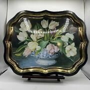 Keller Charles Tray - Painting By Gallery-stephanie Hoppen - Tulips In Planter