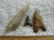 Hand Scraper Point Lot Early Man Paleolithic Acheulean Tools Africa Set-3 Ca51