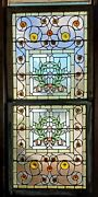Victorian Stained Glass Double Hung Window W Roundels